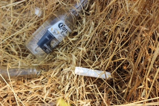 Beer bottles and trash were found along the Tule River by sheriff's deputies.
