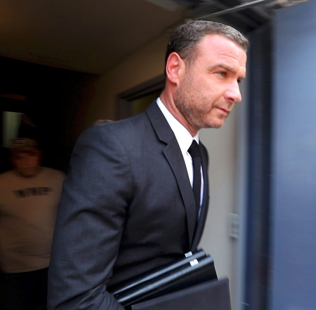 Liev Schreiber, outside Rockland court, says he 'never touched' photographer