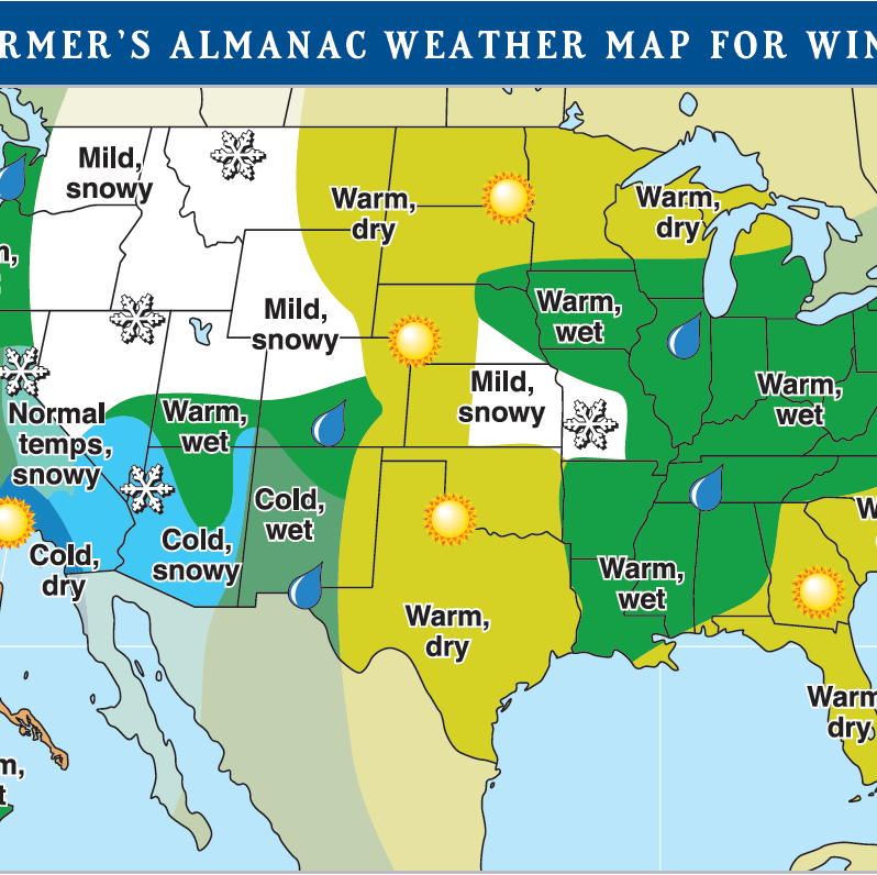 Old Farmer's Almanac: Wetter, warmer winter for Westchester