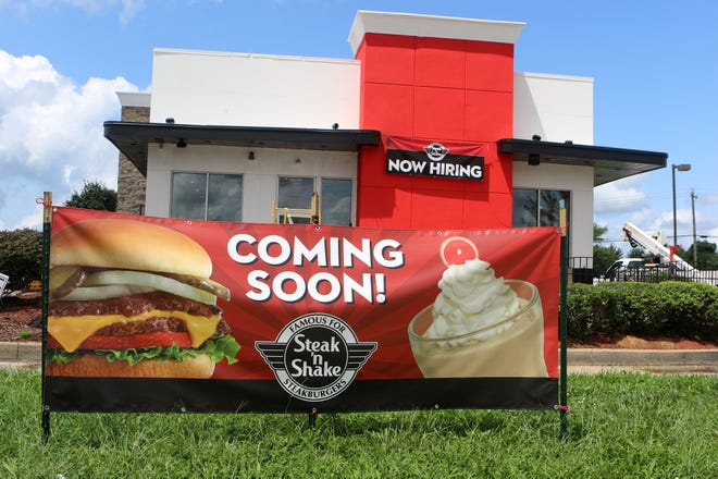 "The ""Coming Soon!"" sign in front of the new Middletown Steak 'n Shake restaurant has Middletonians wondering just when the dine-in, take-out restaurant will open. The owner and managers say final preparations and inspections are taking place in anticipation of an August opening."