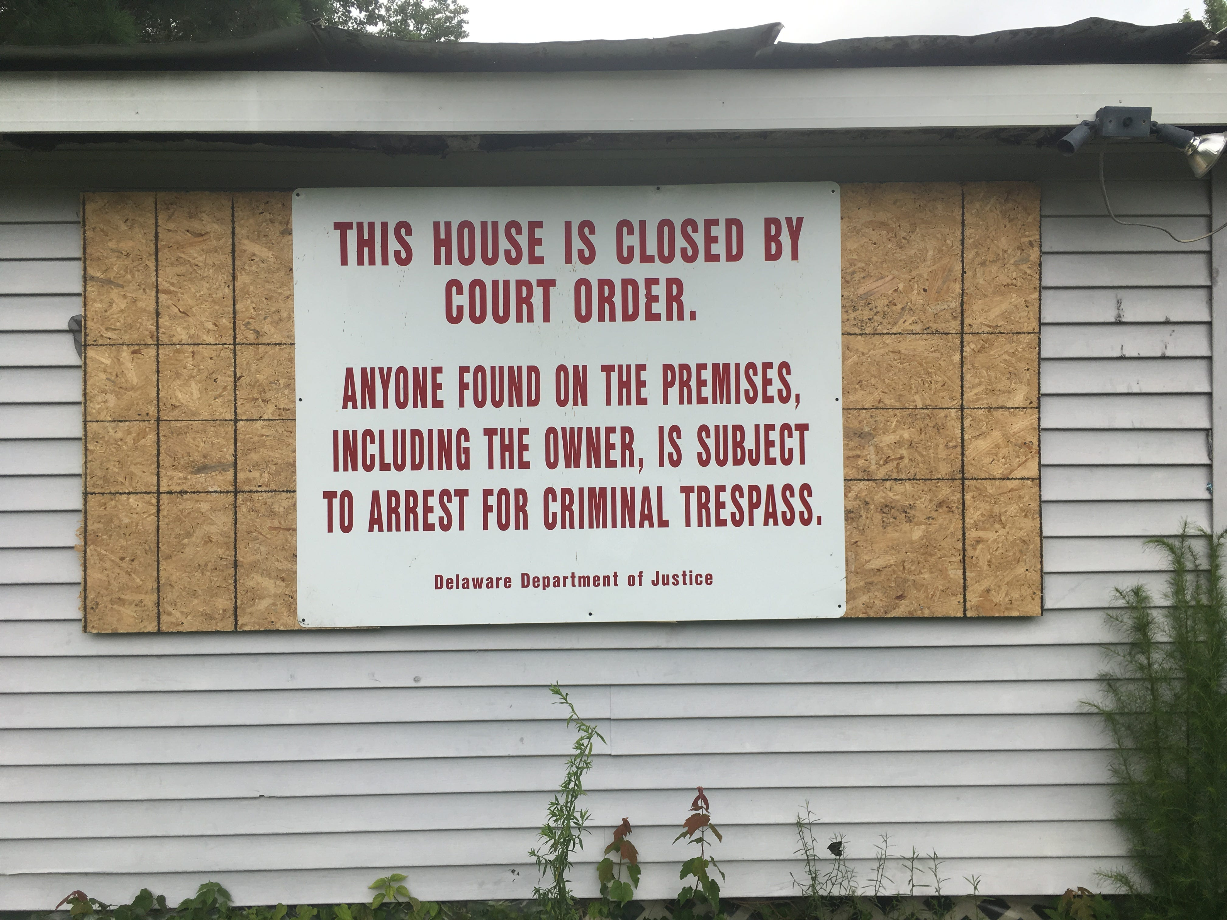 Judge orders home boarded up as criminal nuisance after reports of drug, gun crimes   Delaware Online