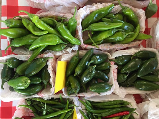 In this file photo, a selection of peppers can be found at the Downtown Wichita Falls Farmers Market.