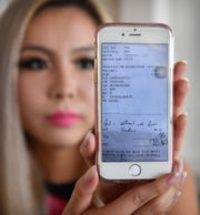 Elina Blackstock, a Japanese immigrant, recently quit her job as a waitress at Hooters after a customer wrote a racial slur on their receipt.