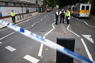 London's Metropolitan Police say the incident near the Houses of Parliament appears to be a 'deliberate act' and the suspect is not cooperating with police.