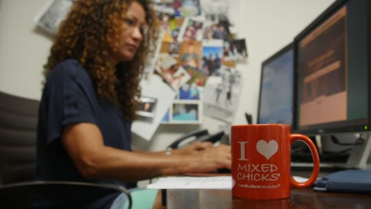 Wendi Levy Kaaya at work at Mixed Chicks.