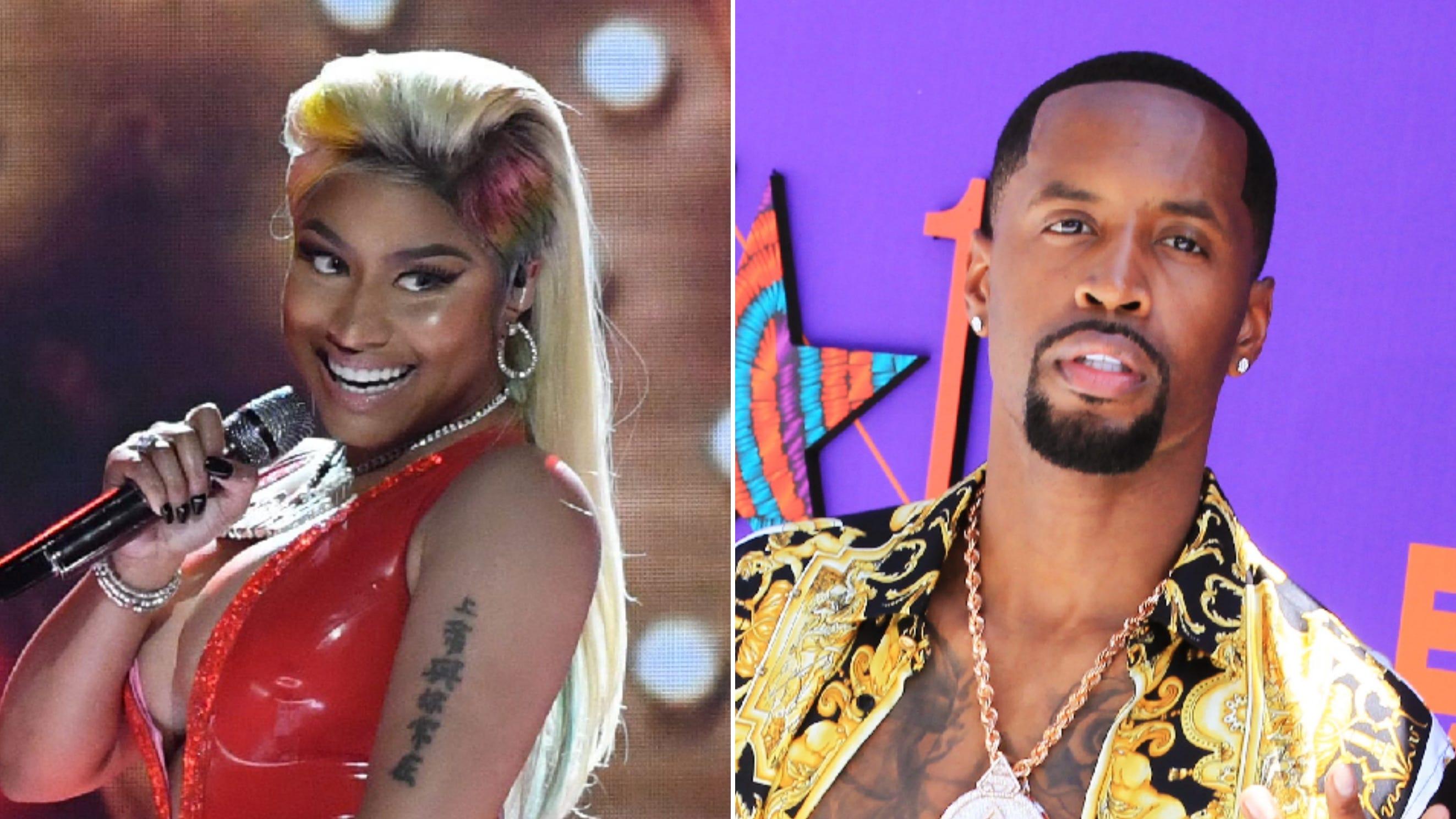 Nicki Minaj ex Safaree feud on Twitter he says she assaulted him