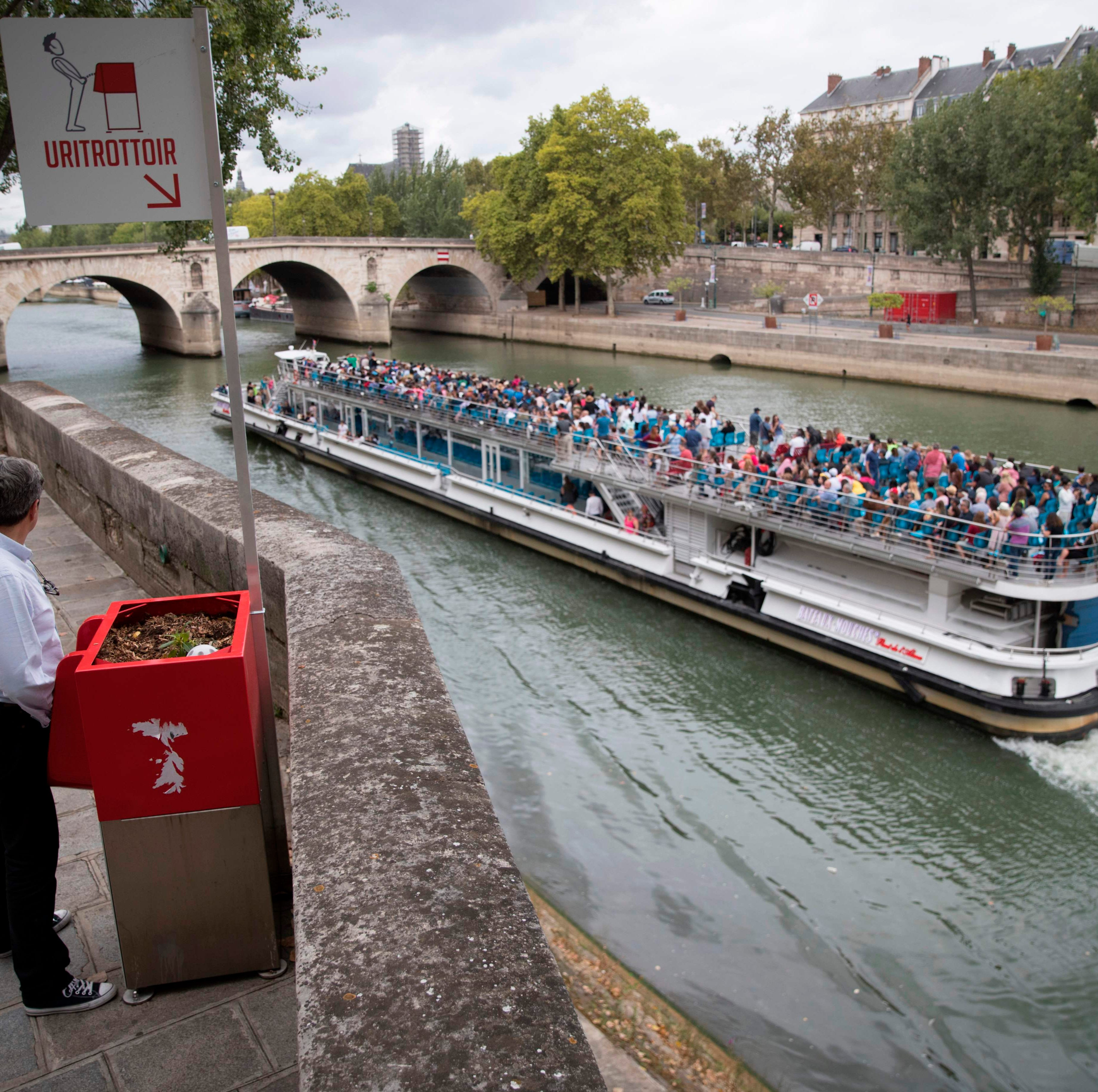Paris installs completely exposed urinals near popular tourist spots