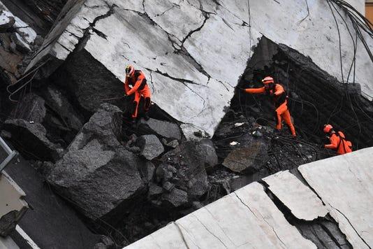 Epa Italy Bridge Collapse Dis Emergency Incidents Ita