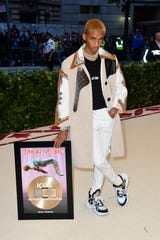 Jaden Smith attends the Met Gala on May 7, 2018 in New York. Would his dad, Will, wear those shoes?