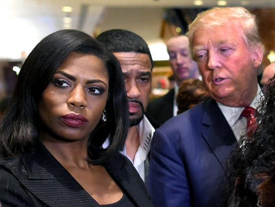 President Donald Trump and Omarosa Manigault Newman, back in 2015.