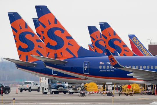 A Sun Country Airlines flight, carrying mostly veterans, was struck by lightning on a flight from Peoria, Illinois to Washington, D.C. on Monday and landed safely.