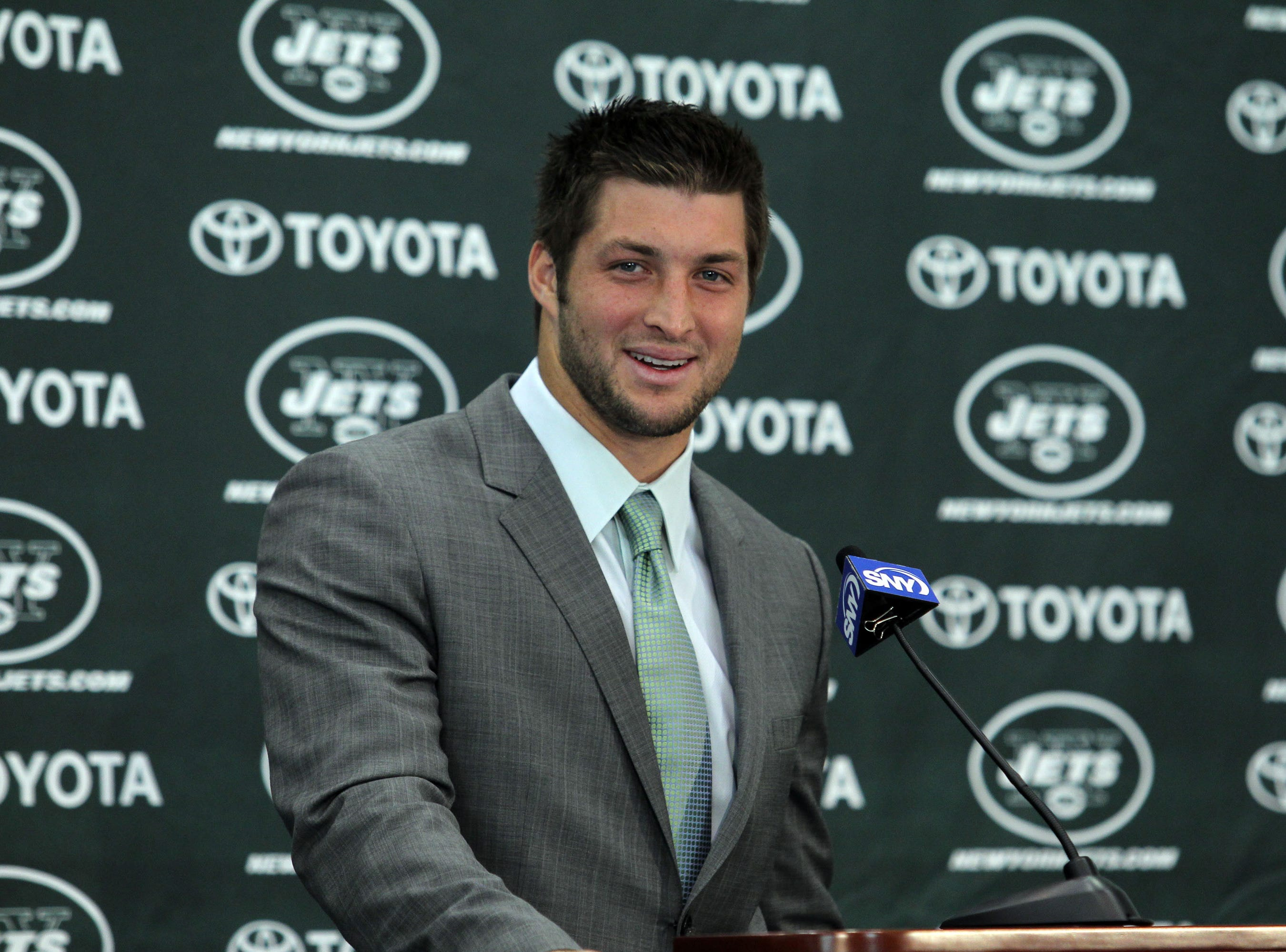 If we learned anything about Tim Tebow at his first Jets news conference, it was that he was 'excited' to join his new team.
