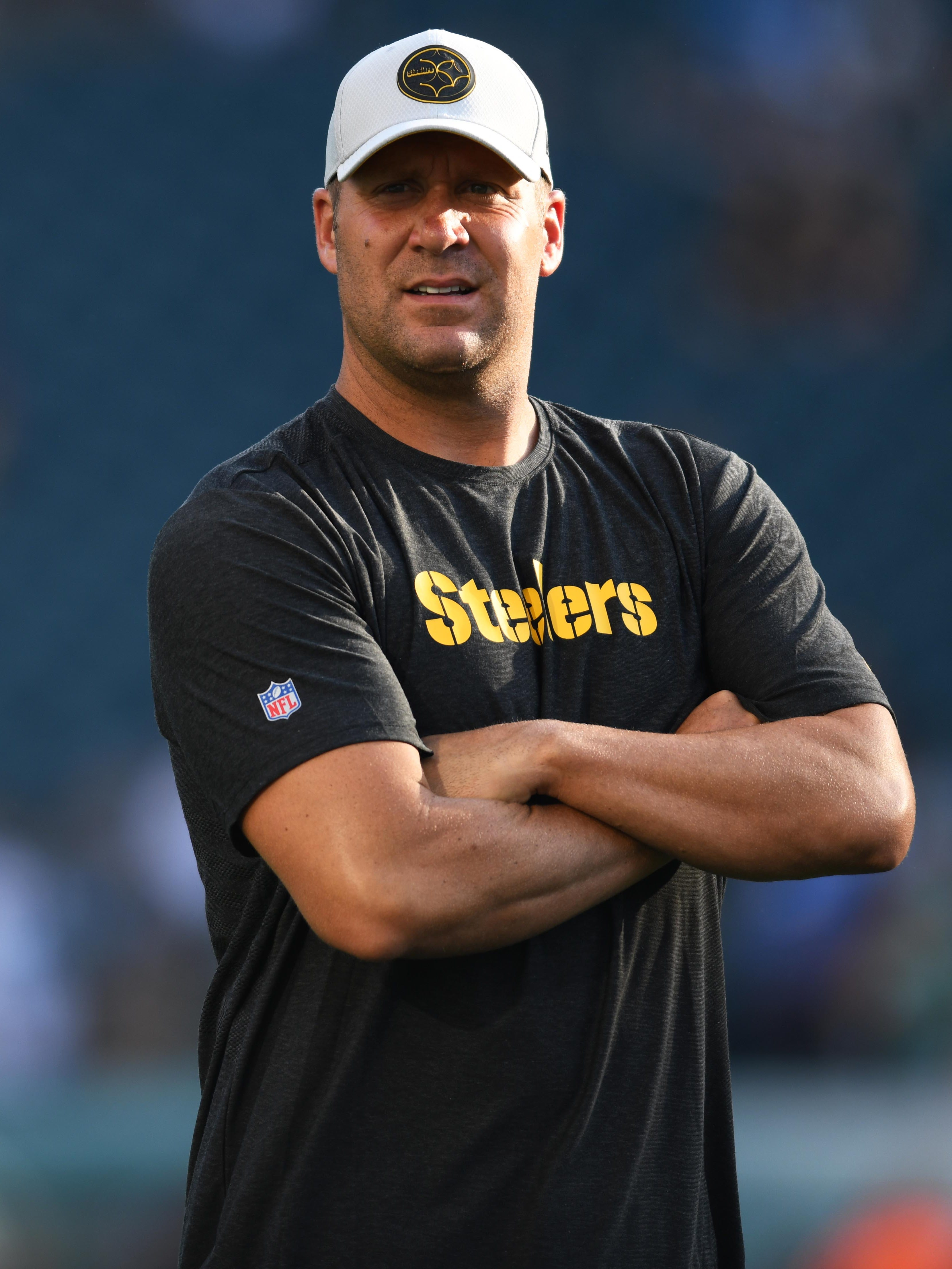 Pittsburgh Steelers quarterback Ben Roethlisberger before the preseason game against the Philadelphia Eagles at Lincoln Financial Field.