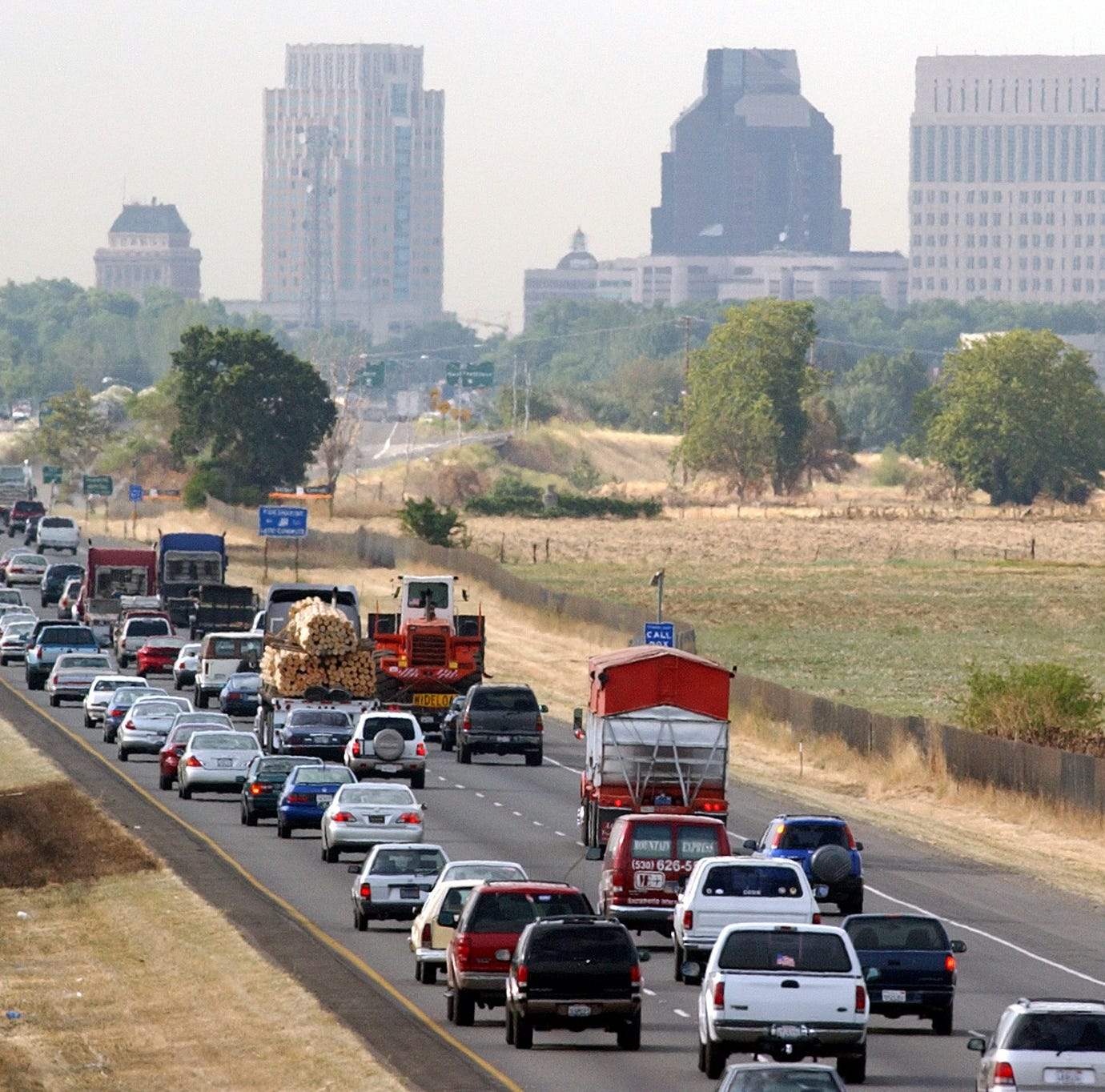 File picture: Motorists head south on Interstate 5 toward downtown Sacramento, California.