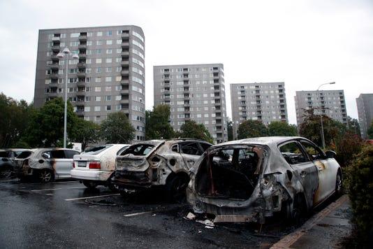 Ap Aptopix Sweden Car Fires I Swe
