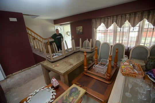 Bob Salomon, of Pine Needle Street in Howell, lost the entire first floor of his house in the flash floods on Monday, Aug. 12, 2018.