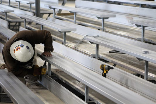 Bleacher Work At Expo Center