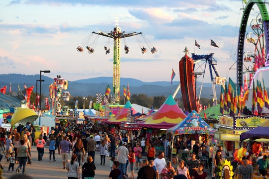The midway at the NC Mountain State Fair, which celebrates a quarter-century at the WNC Ag Center this year.