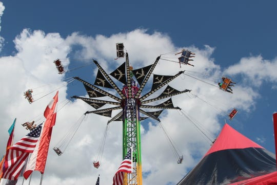 The Zoogvogel spins fairgoers at the NC Mountain State Fair in 2014.