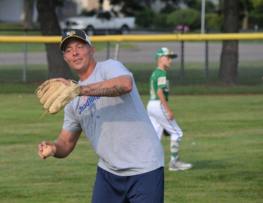 Former Detroit Tiger Brandon Inge was in Battle Creek this week to hold a practice for the Battle Creek Shamrocks and the Battle Creek Yellowjackets as part of a fundraiser for the ChadTough Foundation.