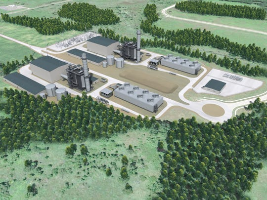 The Marshall Energy Center will sit on 70 acres inside the city's Brooks Industrial Park.