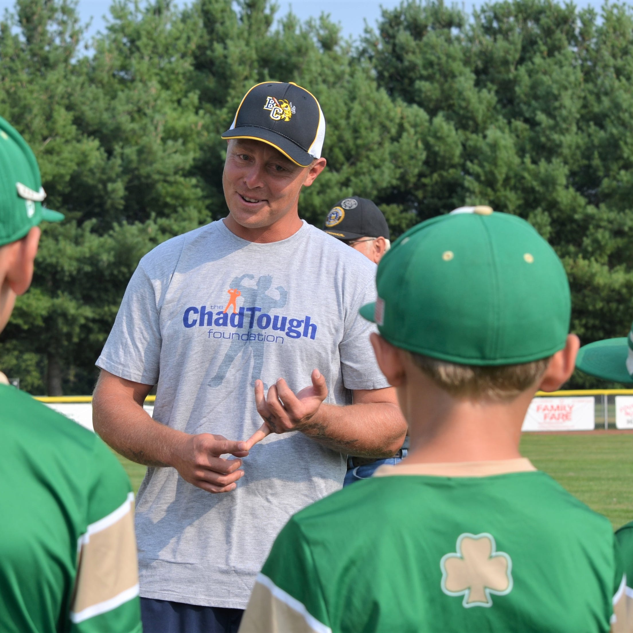 Former Detroit Tiger Brandon Inge is coach for a day for Battle Creek youth players
