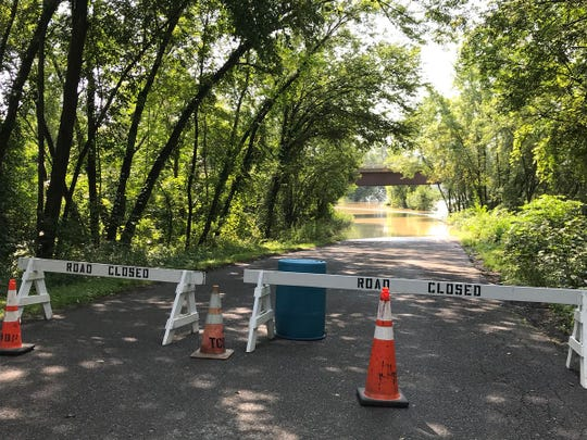 Hickories Park in Owego was closed due to flooding conditions.