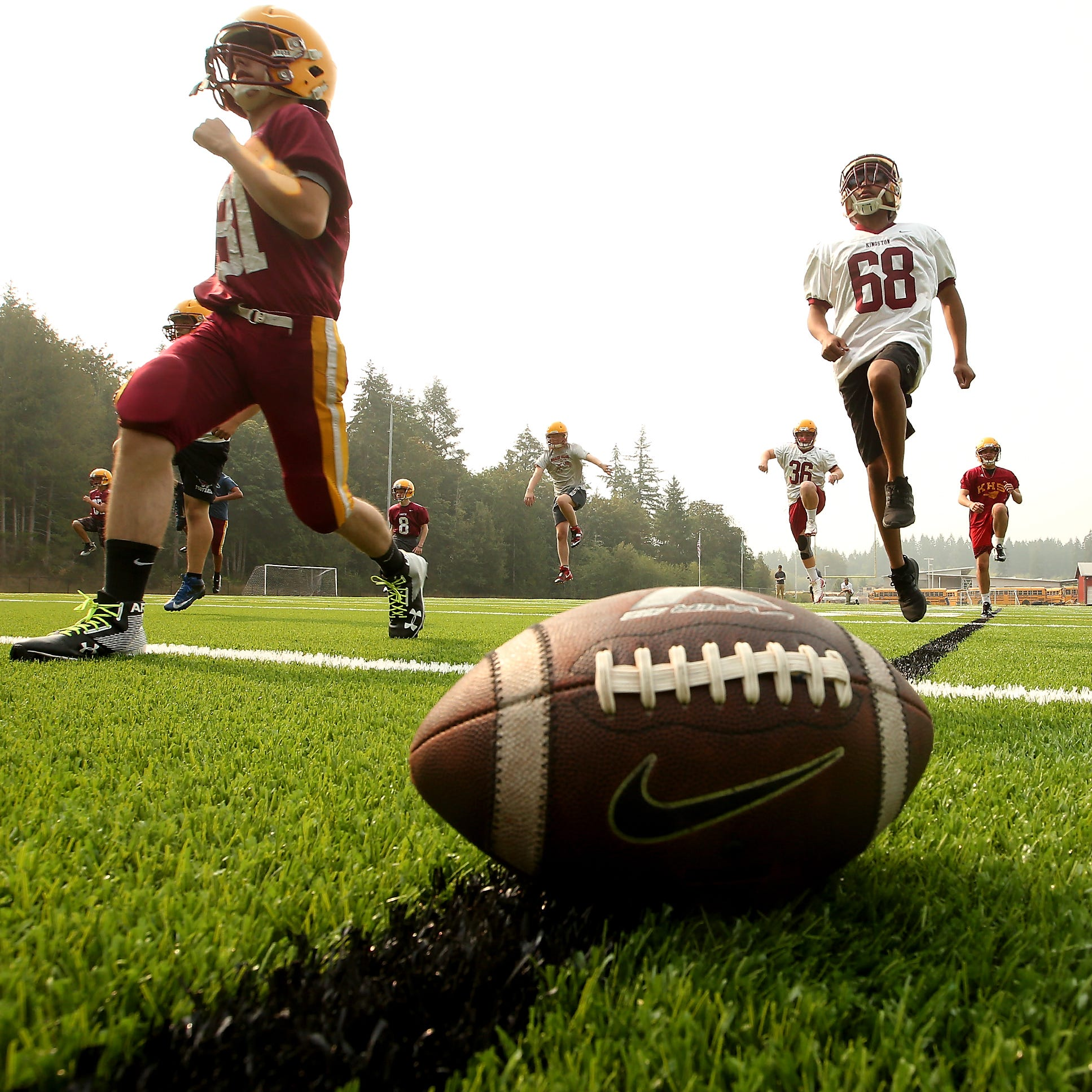 Smoky skies in Kitsap lead to change of plans for first day of football practice