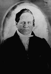This is a circa 1840 photo of Alexander Twilight. Author Michael Hahn has written a book speculating on how Twilight, the first African-American to earn a college degree in the United States, erected a four-story stone building by himself with only the help of one ox.