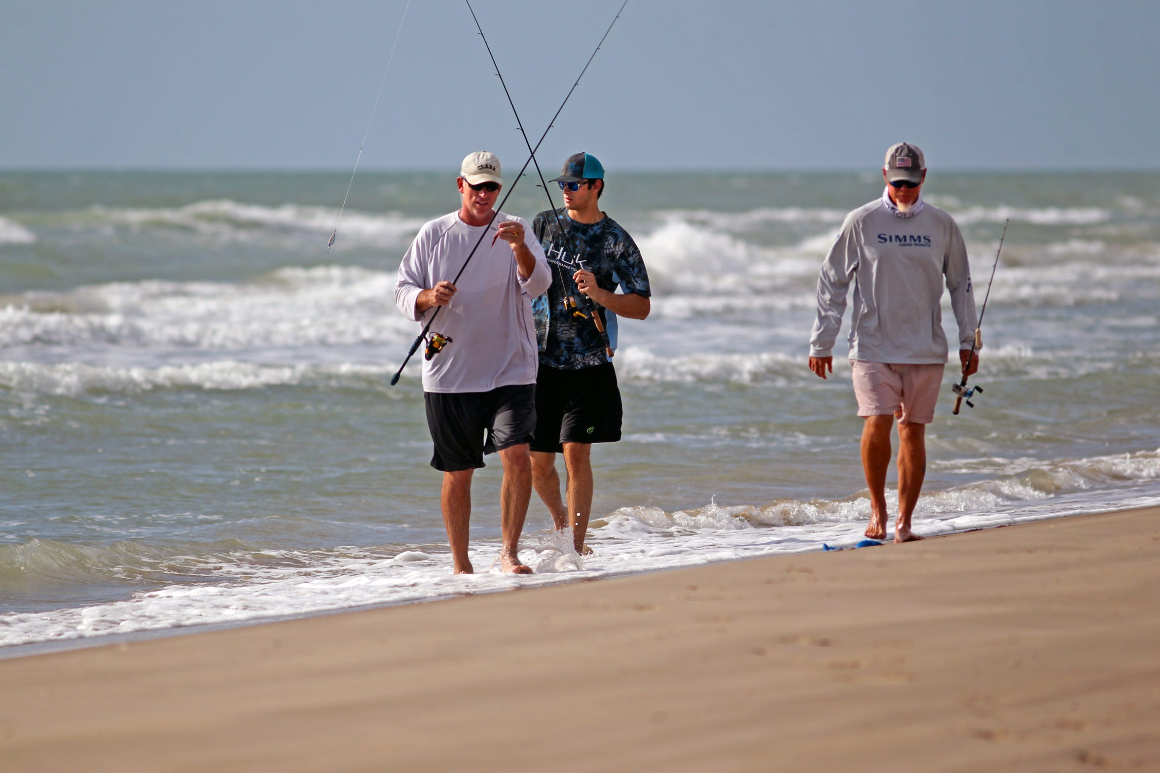 We covered a lot of sand and found plenty of green water the entire length of Padre Island National Seashore.