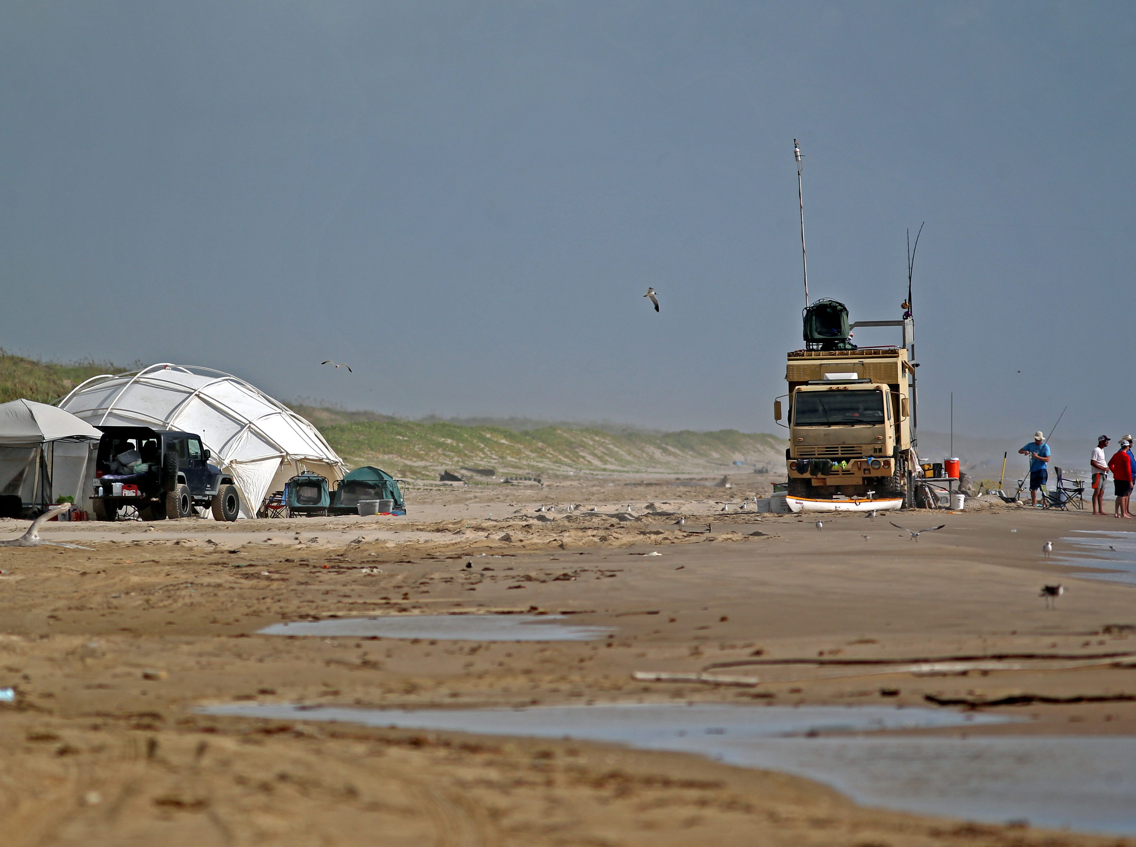 Camping is allowed along Padre Island National Seashore without a special camping permit. A $20 7-day pass is required.