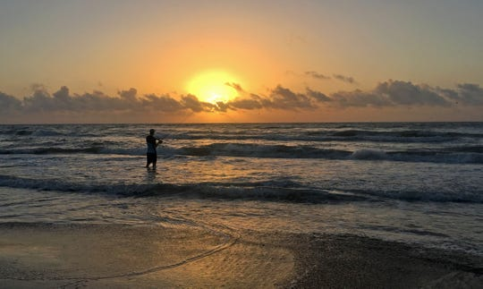 Jeff Wolda likes arriving early on Padre Island National Seashore.
