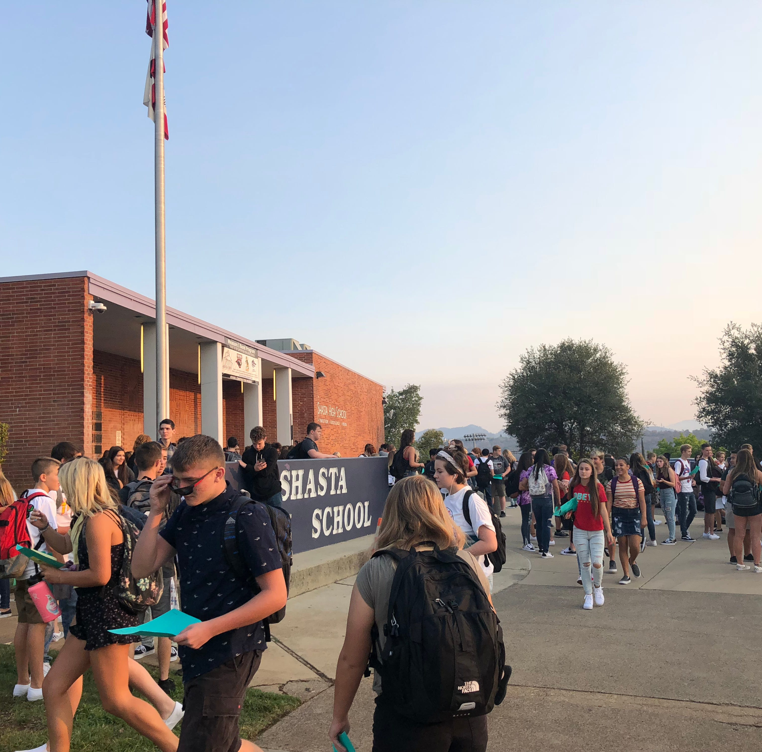 Schools in Redding open with the Carr Fire on the minds of some students