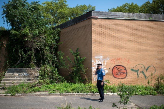 Buildings are run-down at the Camden Labs site Wednesday, Aug. 15, 2018 in Camden, N.J. The former toxic and illegal dumping site will be cleaned and cleared to make way for recreational open space.