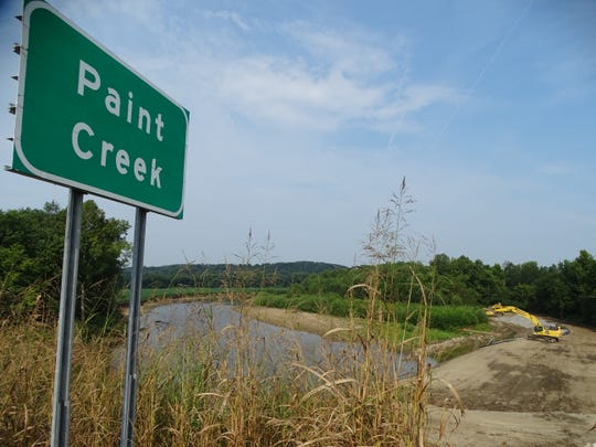Construction workers along Paint Creek off the west side of the bridge along U.S. 23 reported they found a body underneath the bridge late Tuesday afternoon.