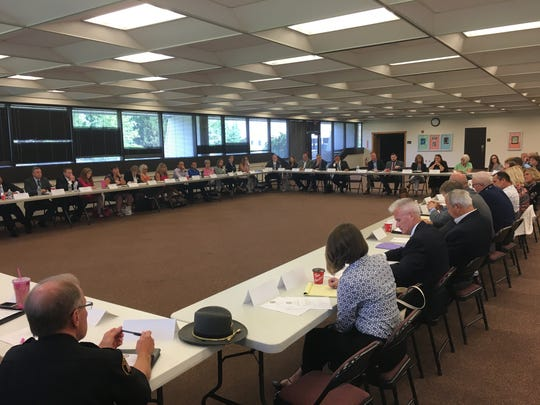 Representatives from multiple counties participated in Congressman Steve Stivers' 6th annual opiate roundtable in Lancaster on Wednesday morning.