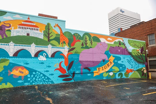ArtWorks' Paint by Numbers program has completed a mural of Fiona and Bibi at the corner of Race and 9th St. The mural was designed by Lucie Rice.