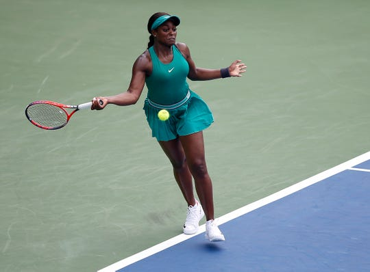 Sloane Stephens beat Tatjana Maria, 6-3,6-2 during the Western and Southern Open at the Lindner Family Tennis Center in Mason Wednesday August 15, 2018.