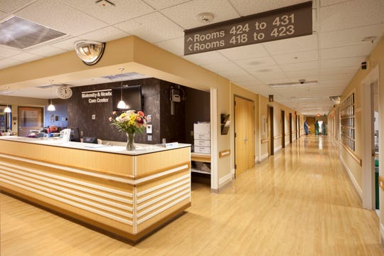 The Maternity Unit at Hunterdon Medical Center in Flemington, where the doctors and midwives at All Women's Healthcare are affiliated