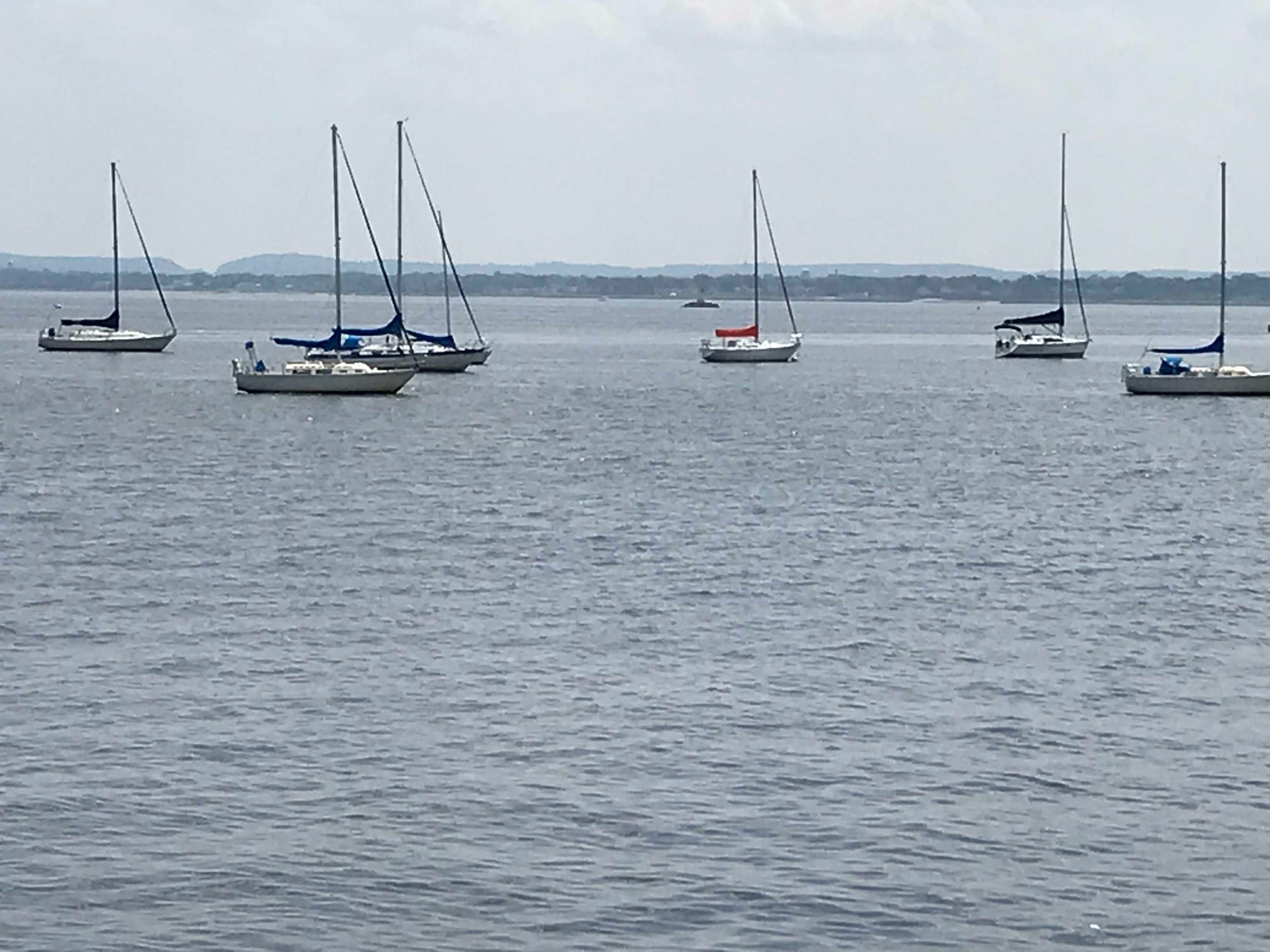 Boats along the Perth Amboy waterfront not far from Ruth Jacobson's High Street home.