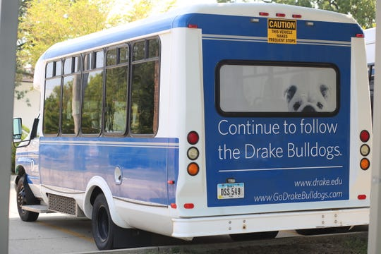 Drake University's Safe Ride bus. The program served 27,000 in 2017-18.