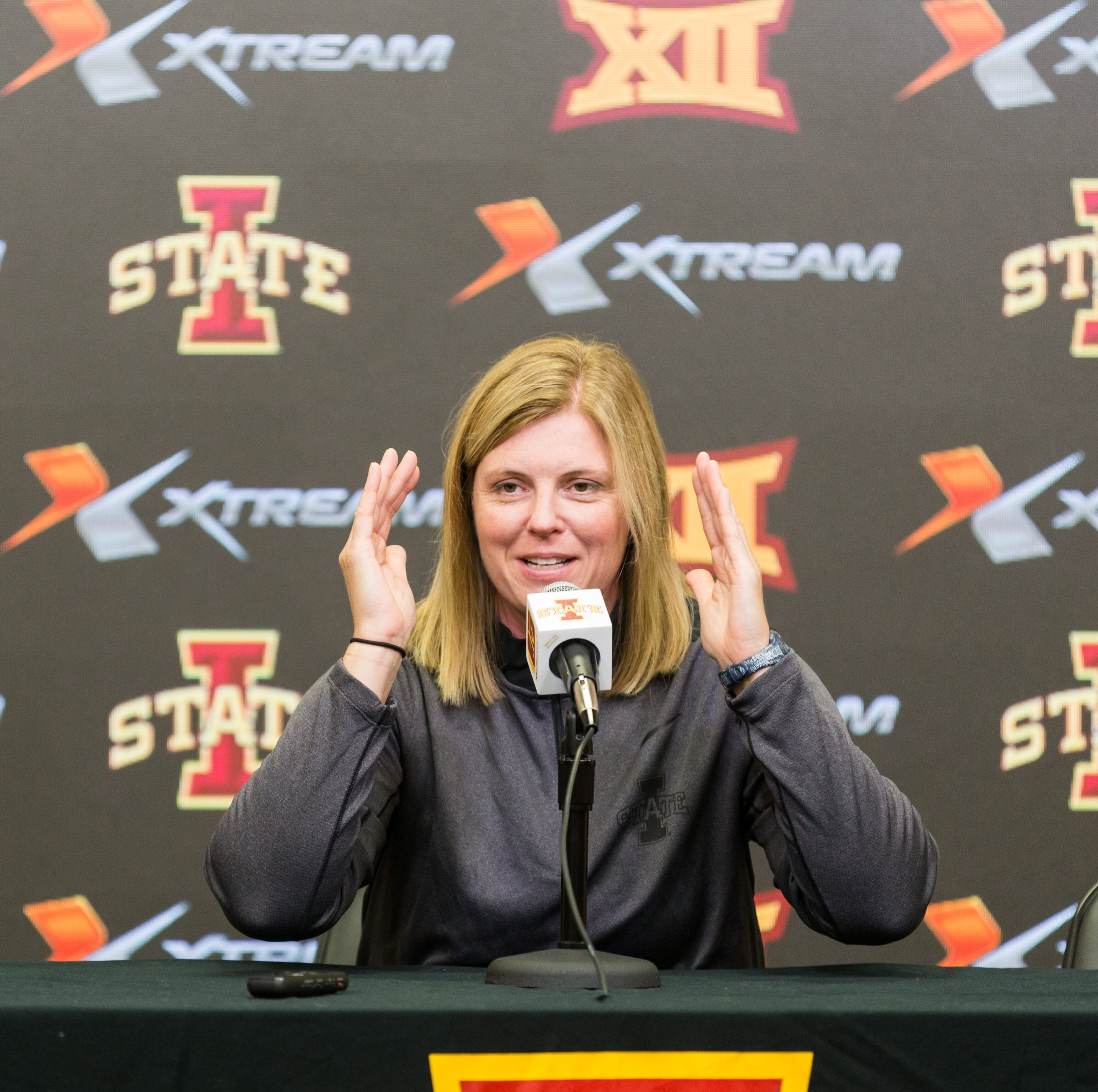 Iowa State volleyball coach Christy Johnson Lynch...