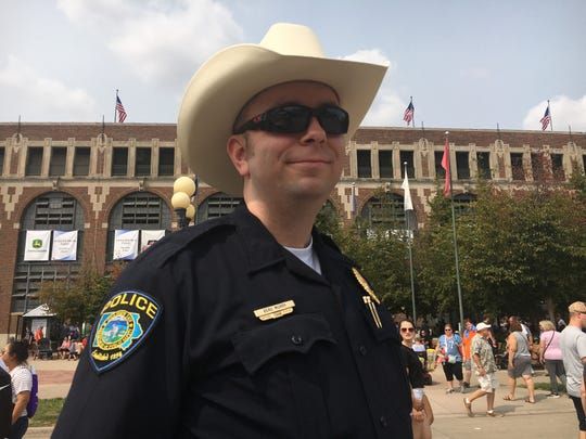 Beau Murry is an Iowa State Fair Police Officer. This is the new police force's first year at the fair.