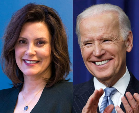 Gretchen Whitmer has been endorsed for Michigan governor by former U.S. Vice President Joe Biden.