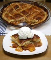 Peach Potpie with vanilla bean ice cream.