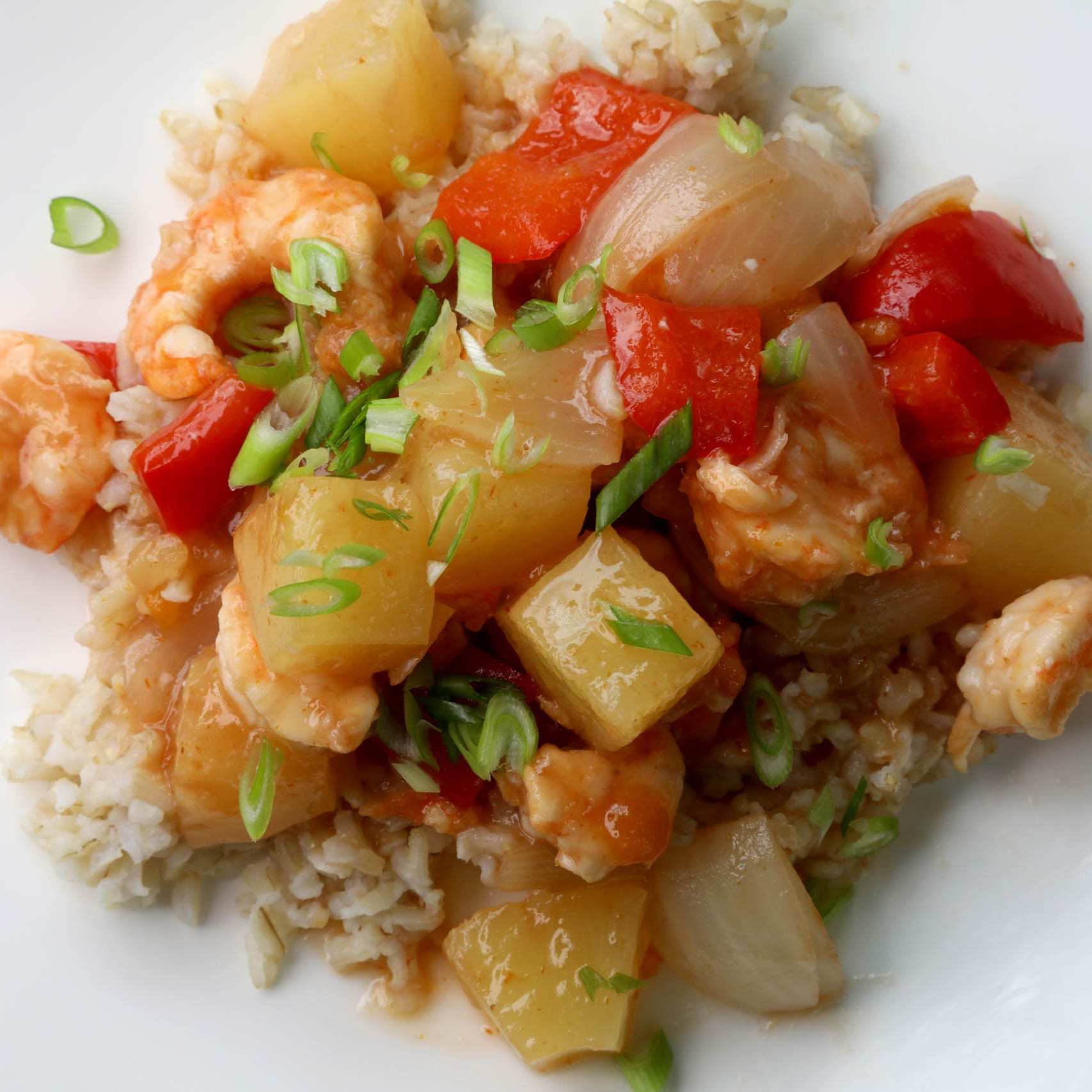 Sweet and Sour Shrimp easy to put together for oven or grill