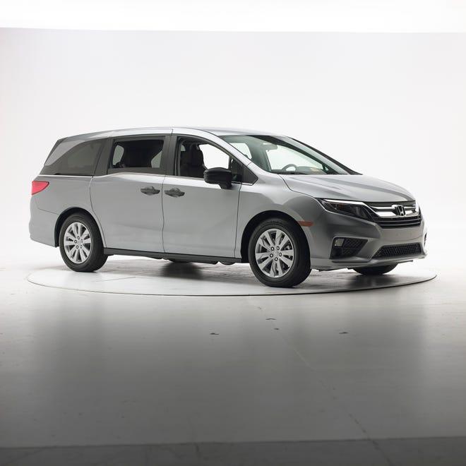The 2018 Honda Odyssey, pre-crash.