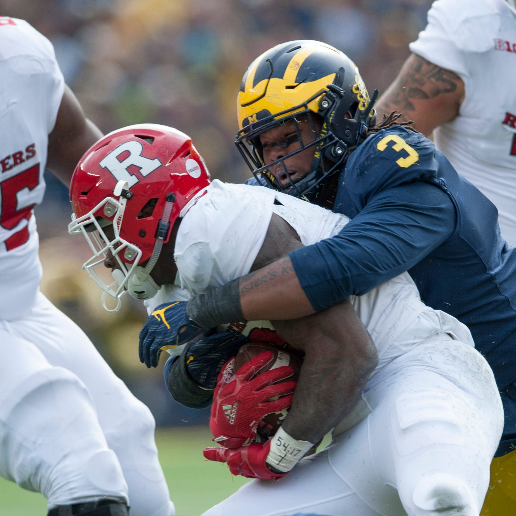 Michigan's Rashan Gary No. 3 on Todd McShay's top 32 for 2019 NFL draft