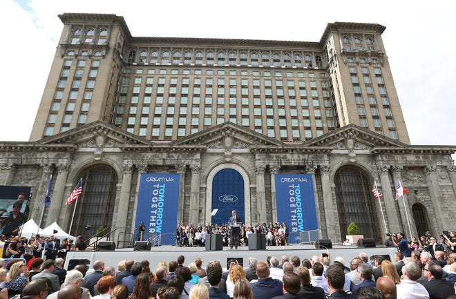 Ford Motor Co. has submitted a tax incentive package to the city of Detroit with a request for $104 million in tax breaks for its Corktown campus. The company wants the Detroit City Council will approve the funding by mid-October so it can begin winterization work on Michigan Central Station.