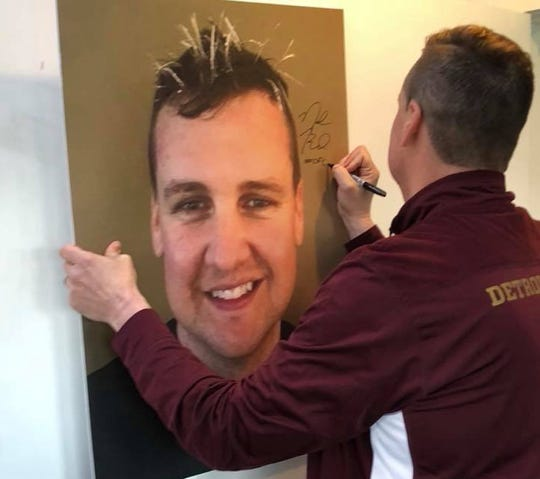 """Neal Ruhl """"frosted his tips"""" for a recent charity endeavor, supported by the fans of Detroit City FC."""